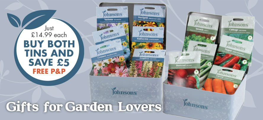 Flower and Vegetable Seed Tins